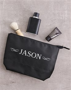 gifts: Personalised Name Mens Wash Bag!