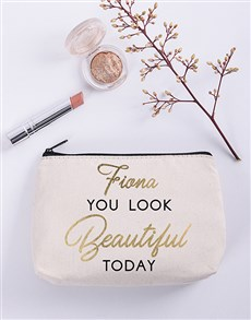 gifts: Personalised Beautiful Cosmetic Bag!