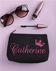 gifts: Personalised Queen Cosmetic Bag!