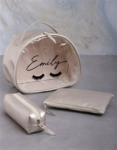 gifts: Personalised 3 Piece Lashes Vanity Set!