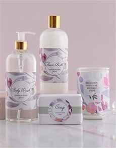 gifts: Personalised Pink Floral Gift Set!
