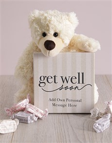 gifts: Personalised Get Well Soon Box of Nougat!