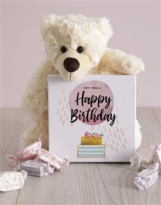 gifts: Personalised Happy Birthday Box of Nougat!