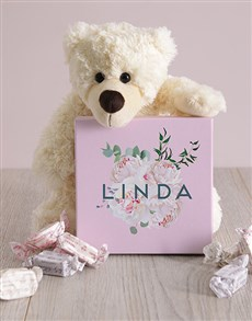 gifts: Personalised Floral Box of Nougat!