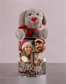 gifts: Doggy in a Christmas Photo Tin!