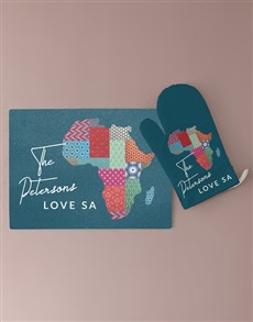 gifts: Personalised Africa Glass Chopping Board!