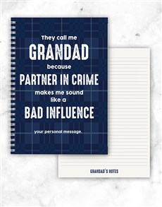 gifts: Personalised Partner In Crime Notebook!