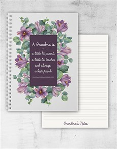 gifts: Personalised Grandmother Notebook!