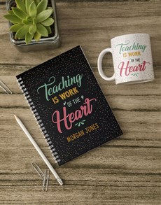 gifts: Personalised Work Of Heart Notebook!