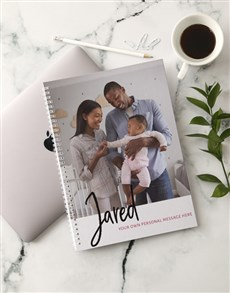 gifts: Personalised Message and Photo Notebook!