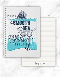 gifts: Personalised Skillful Sailor Notebook!