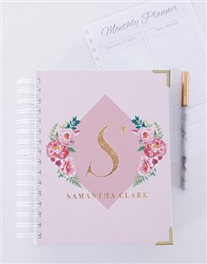gifts: Personalised Floral Initial Journal!