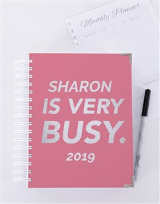 gifts: Personalised Very Busy Journal!