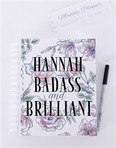 gifts: Personalised Badass and Brilliant Journal!
