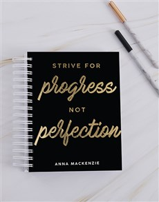 gifts: Personalised Strive For Progress Journal!