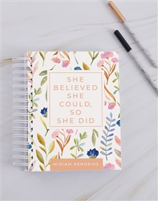 gifts: Personalised Believed She Could Journal!