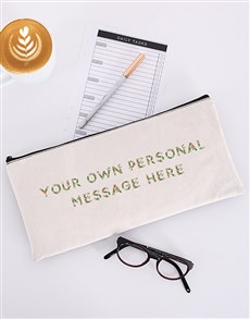 gifts: Personalised Own Floral Message Pencil Bag!