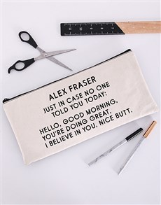 gifts: Personalised Just In Case Pencil Bag!