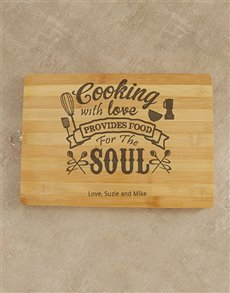 gifts: Personalised Cooking With Love Chopping Board!