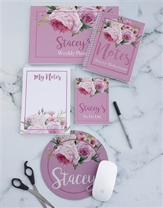 gifts: Personalised Roses Take Note Set!