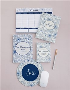 gifts: Personalised Sketch Floral Take Note Set!