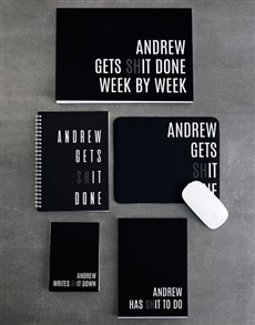 gifts: Personalised Gets It Done Desk Set!