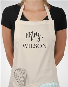 gifts: Personalised Modern Mrs Apron!
