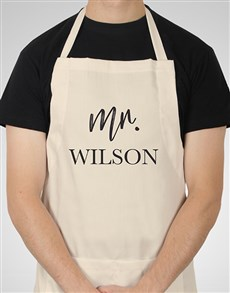 gifts: Personalised Modern Mr Apron!