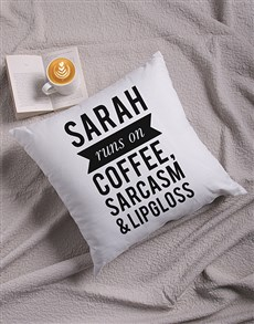 gifts: Personalised Fueled By Scatter Cushion!