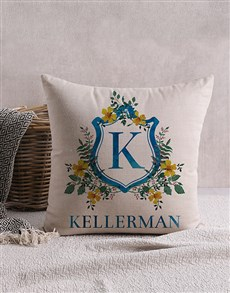gifts: Personalised Family Crest Scatter Cushion!