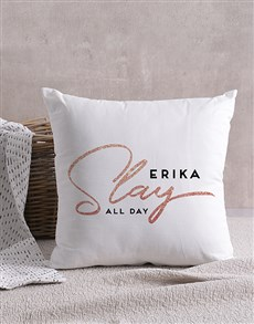 gifts: Personalised Slay All Day Scatter Cushion!