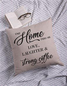 gifts: Personalised Our Home Scatter Cushion!