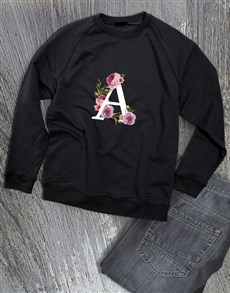 gifts: Personalised Rose Initial Sweater!