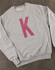gifts: Personalised Pink Initial Ladies Sweater!