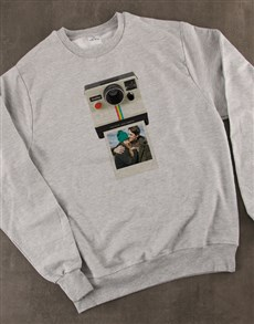 gifts: Personalised Polaroid Sweater!