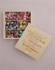 gifts: Personalised Fantasic Birthday Lindt Treasure Box!