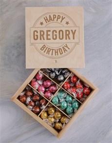 gifts: Personalised Happy Birthday Lindt Treasure Box!