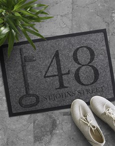gifts: Personalised Address Doormat !