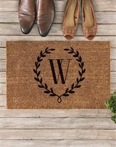 gifts: Personalised Floral Wreath Doormat!