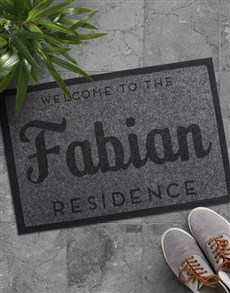 gifts: Personalised Family Residence Doormat!
