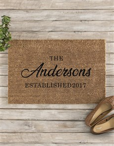 gifts: Personalised Family Established Doormat!