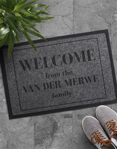 gifts: Personalised Welcome Family Doormat!