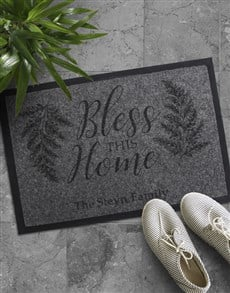 gifts: Personalised Bless The Home Doormat!
