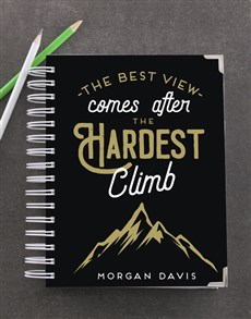 gifts: Personalised Hardest Climb Goal Journal!