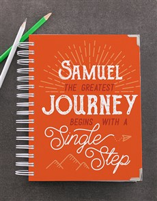 gifts: Personalised Single Step Goal Journal!