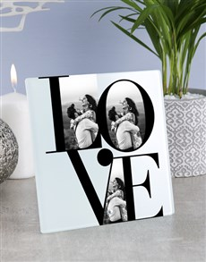 gifts: Personalised Love Glass Tile!