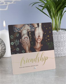 gifts: Personalised Friendship Glass Tile!