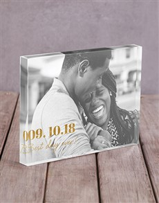 gifts: Personalised Best Day Ever Acrylic Block!