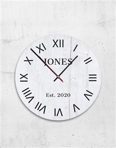 gifts: Personalised Surname Clock!