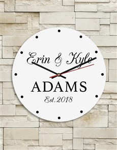 gifts: Personalised Couples Clock!